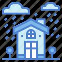 buildings, construction, home, rainy