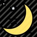 moon, night, sky, sleep, space