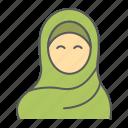 woman, wear, hijab, arab, girl, muslim, female