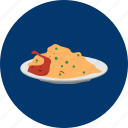 chicken, eid, food, islam, ramadan, religion, rice icon
