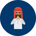 drink, eid, islam, juice, man, ramadan, religion icon