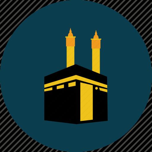 eid, islam, ka'bah, object, pray, ramadan, religion icon