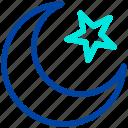 chand, crescent, islam, moon, pray, ramadan, star