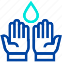 hand, islam, muslim, praying, ramadan, water, water drop icon