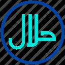 eat, food, halal, muslim, ramadan icon