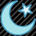 chand, crescent, islam, moon, pray, ramadan, star icon