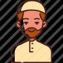 muslim, man, muslim man, avatar, arab, islam, religion icon