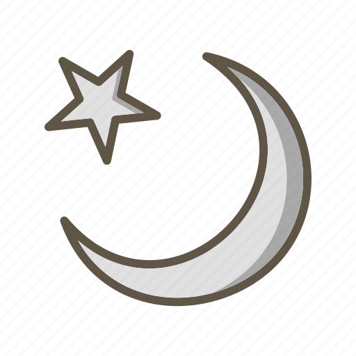 moon, new moon, star icon