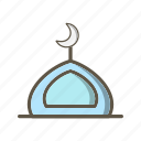 mosque, muslim, prayer icon