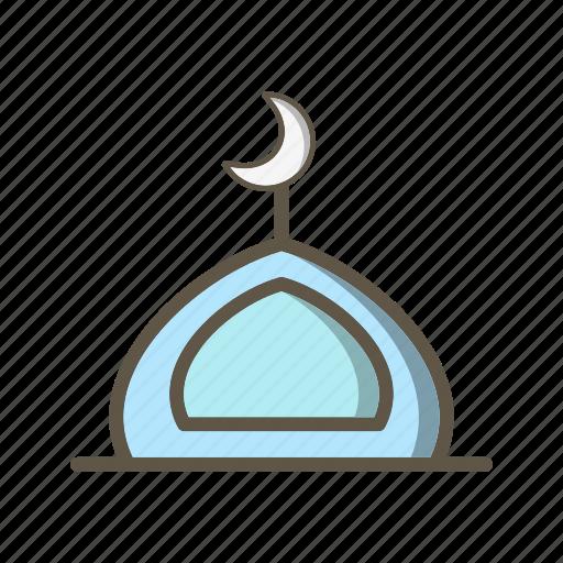 mosque, muslim, prayer icon
