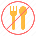 diet, fasting, fork, no eating, no food, ramadan, spoon icon