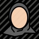 hijab, islamic, muslim, profile, woman