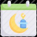 calendar ramadan, date, eid, fasting, islam, muslim, ramadan icon