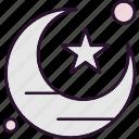 crescent, moon, ramadan, star