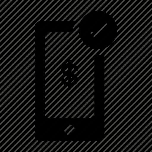 Banking, dollar, mobile, phone, send money, transaction icon - Download on Iconfinder