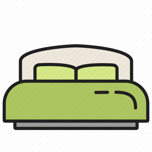 bed, bedroom, furniture, interior, room, sleep icon