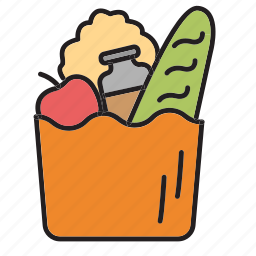 bag, cook, food, groceries, shopping, vegetables icon