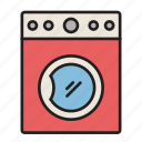 washing, laundry, electric, clean clothes, washing machine, electrical appliance, cleaning