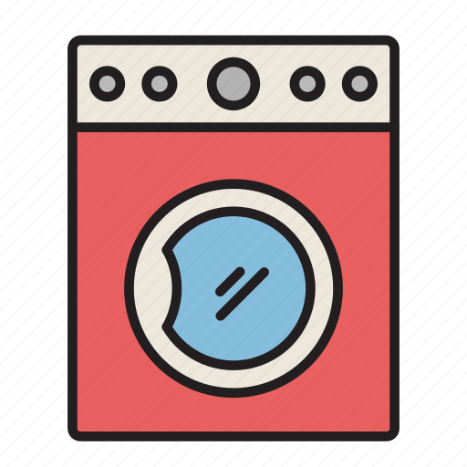 clean clothes, cleaning, electric, electrical appliance, laundry, washing, washing machine icon