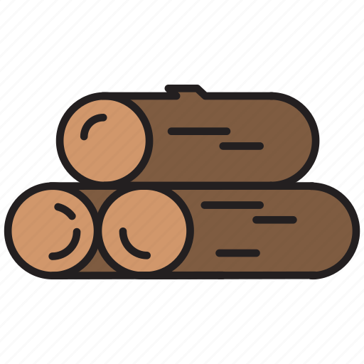 camping, log, nature, resource, trunk, wood icon