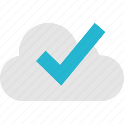 check, cloud, mark, online icon