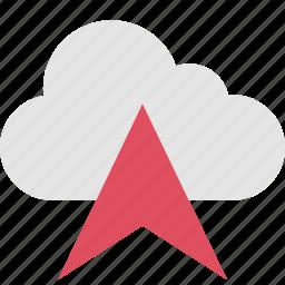arrow, gps, pin, up icon