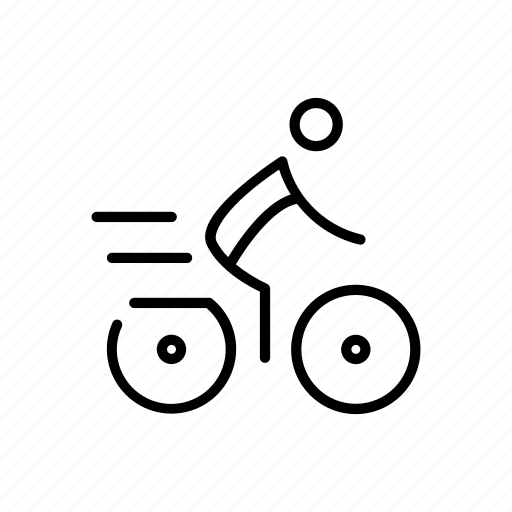 bicycle, cycle, cycling, cyclist, exercise icon