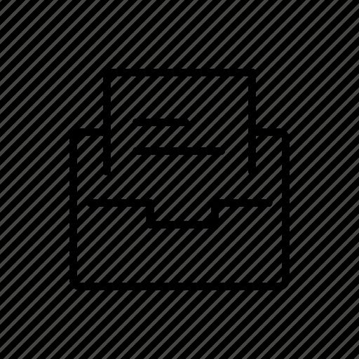 envelope, folder, inbox, letter, message icon