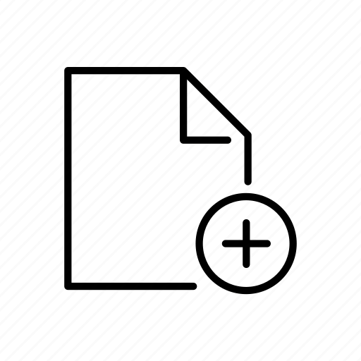 add, doc, document, file, new icon