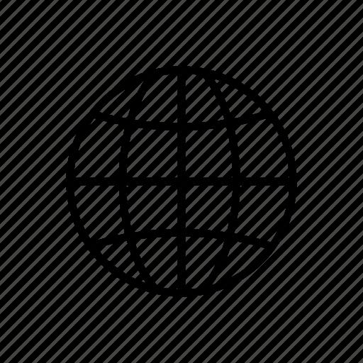 earth, globe, grid, map, planet icon
