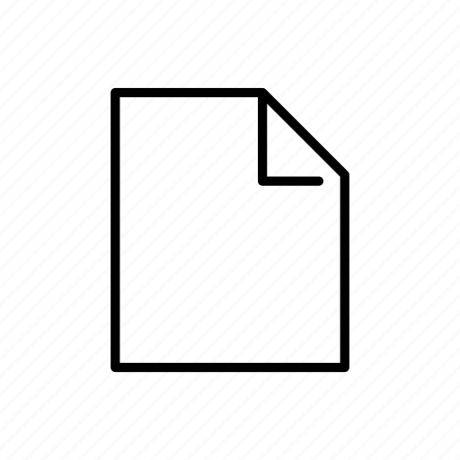 doc, empty, file, new, note, text icon