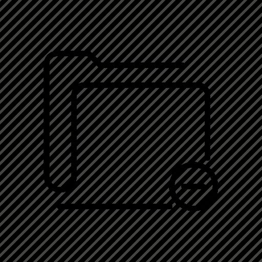 data, denied, file, folder, remove, storage icon