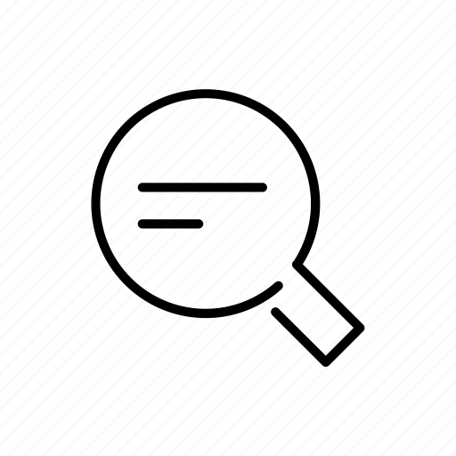 data, education, glass, magnifying, research, search, zoom icon