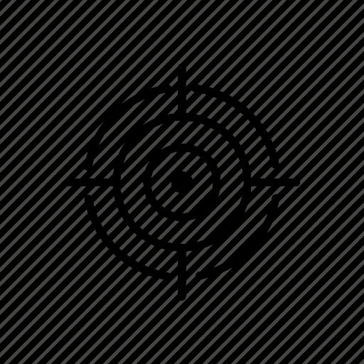 aim, destination, goal, point, shoot, target icon
