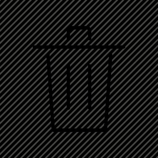 basket, bin, can, dustbin, interface, trash icon