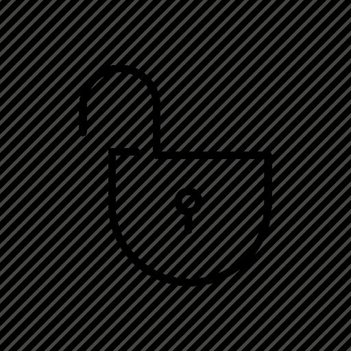 key, padlock, security, unlock, unlocked icon