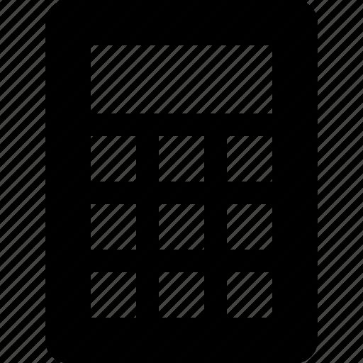 calc, calculator, raw, simple icon