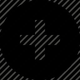 add, button, circle, plus, raw icon