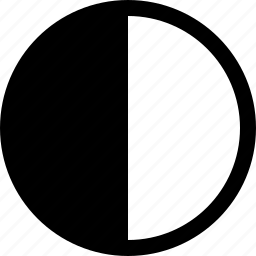 contrast, graphic, raw, simple icon