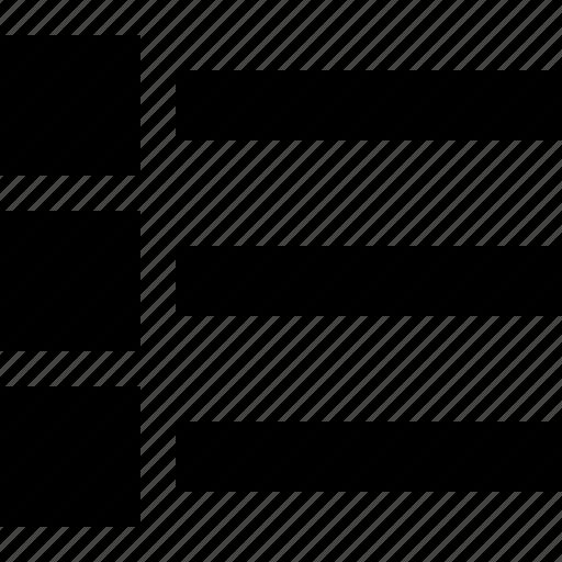 list, menu, raw, simple icon