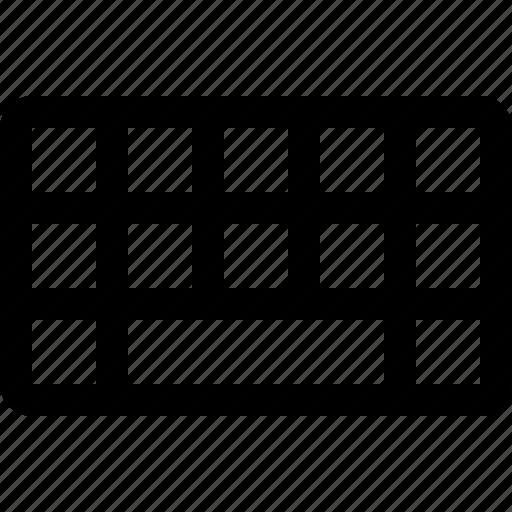 key, keyboard, keys, mini, raw, simple, space icon