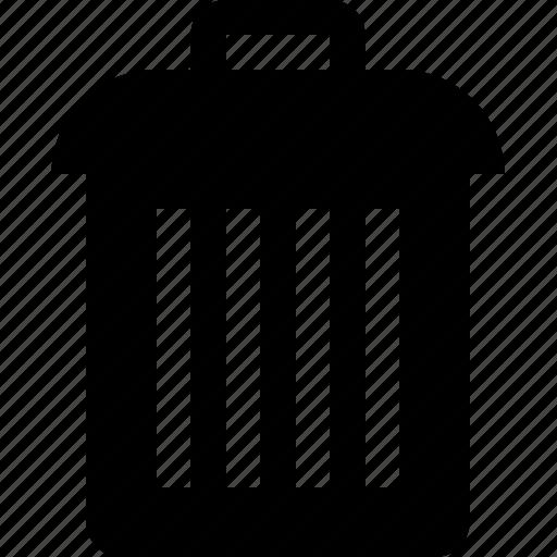 delete, discard, raw, rubbish, simple, trash icon