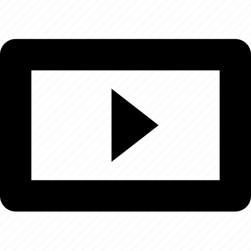 cinema, movie, play, raw, simple, video, youtube icon