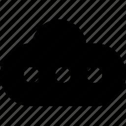 cloud, raw, simple, wait, web icon