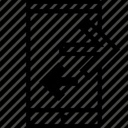 activity, arrow, cell, internet icon