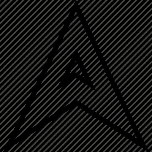 arrow, gps, locate, up icon
