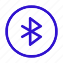 bluetooth, connection, network, transfer data, wireless icon