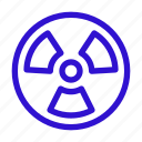 danger, nuclear, pollution, radiation, radioactive icon