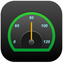app, auto, rapid, speedometer icon