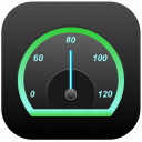 car, lighting, night, rapid, speedometer icon